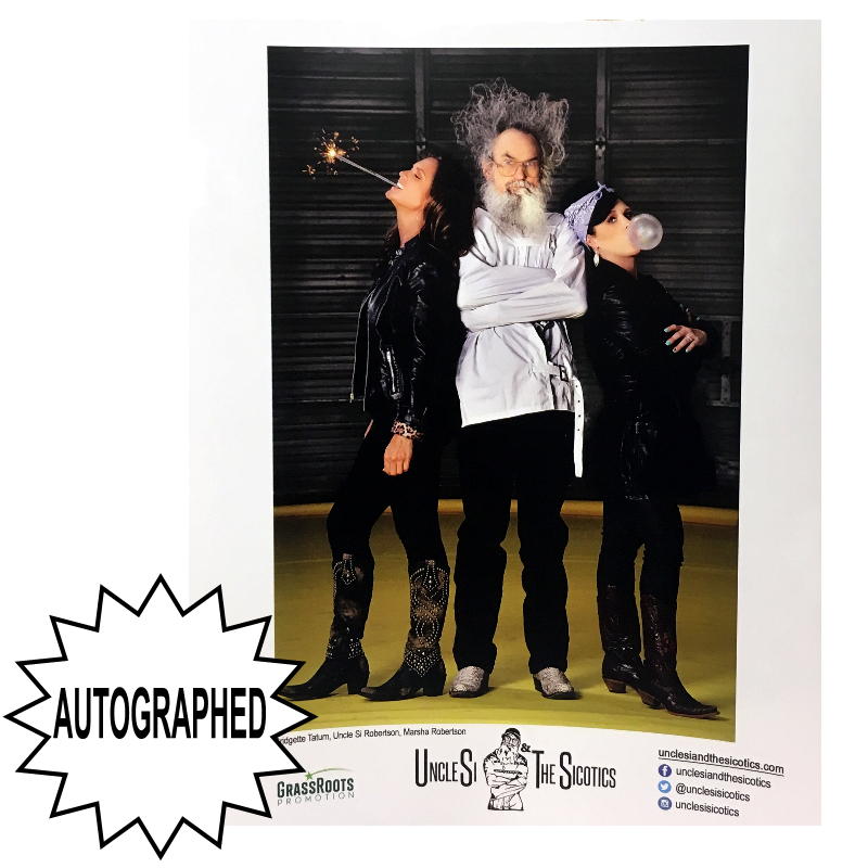 Uncle Si and the Sicotics AUTOGRAPHED 8x10